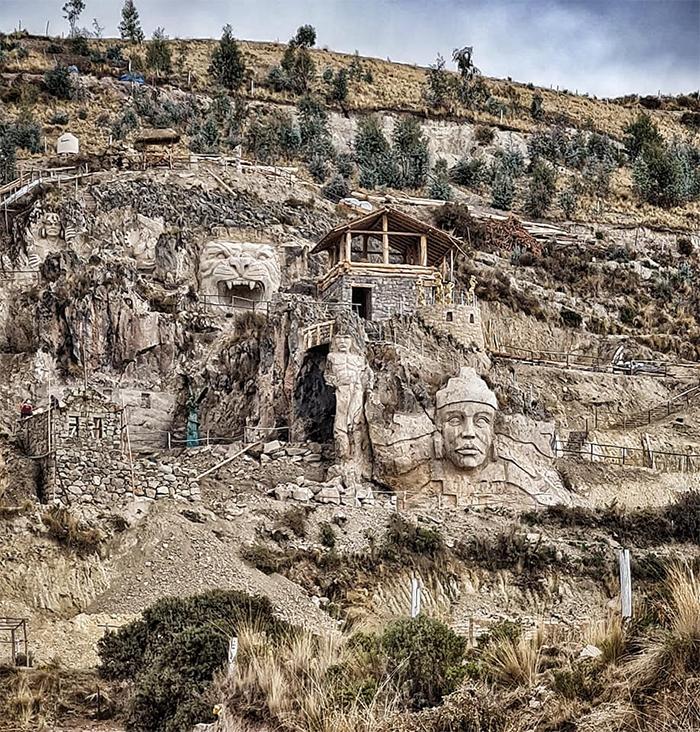 ancient andean gods sculptures cusco peru
