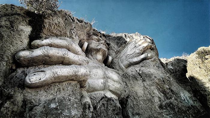 ancient andean gods sculptures peru
