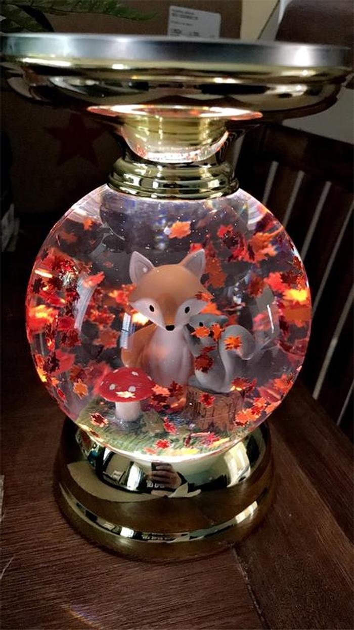 autumn inspired candlestick forest animals
