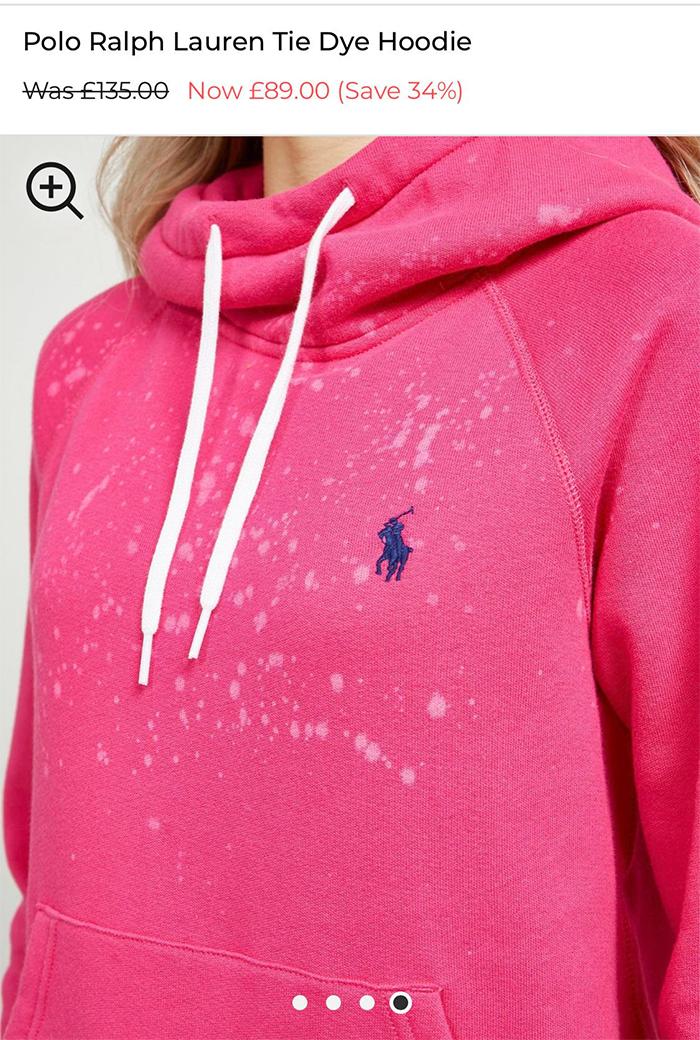 bad designs expensive tie dye hoodie