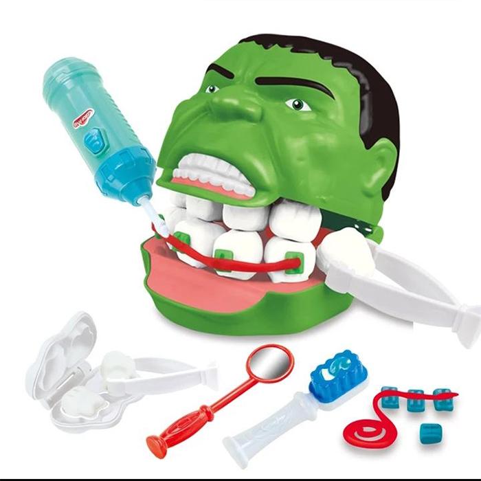 bad designs incredible hulk dentist set toy