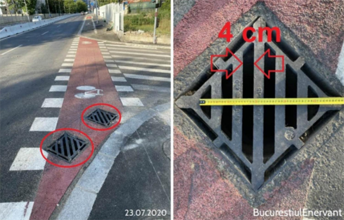 bad designs sewer cover wide holes