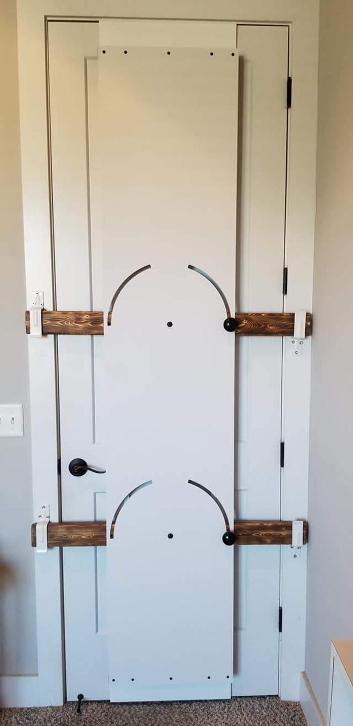 bedroom door barricade locked