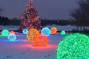 chicken wire LED Christmas balls