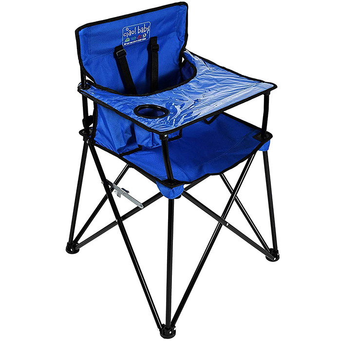 ciao baby portable high chair blue