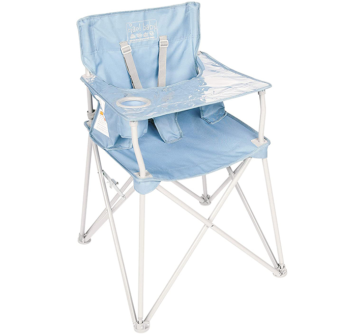 ciao baby portable high chair slate blue