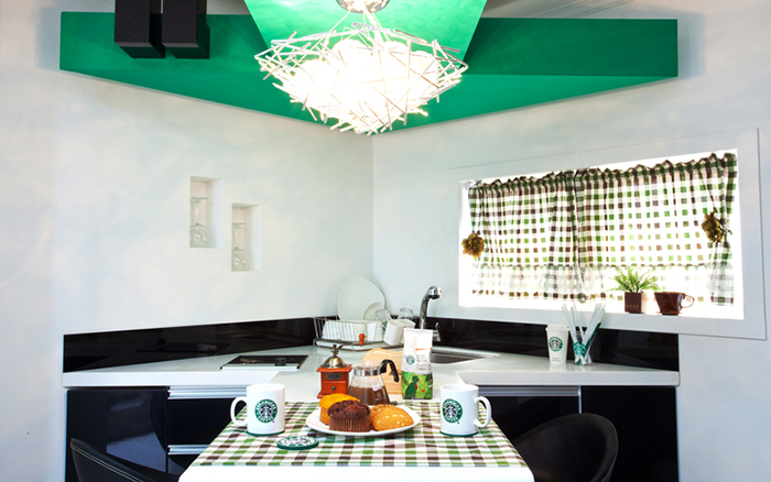 coffeehouse themed accommodation dining area