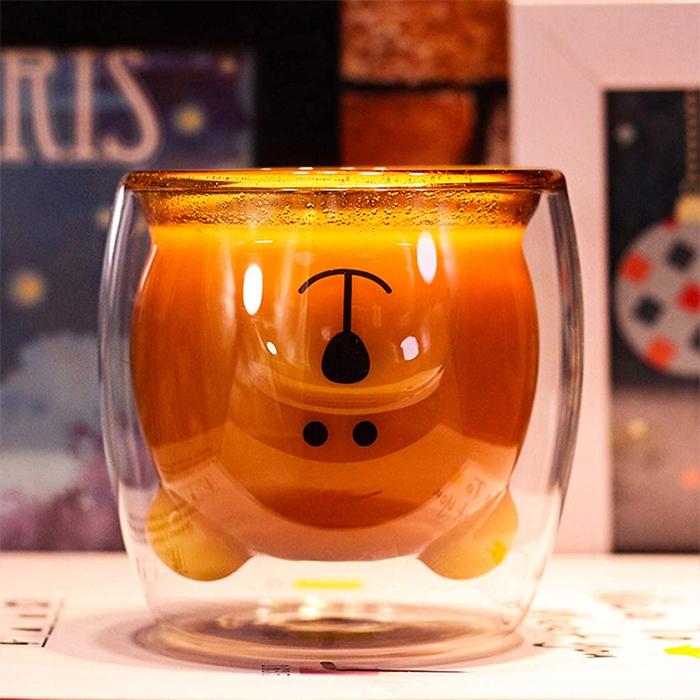 double-walled cute animal mug design
