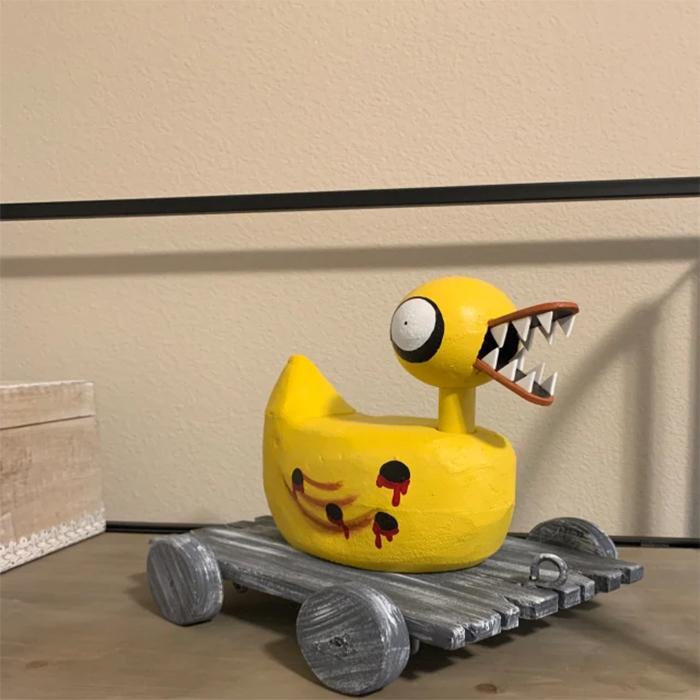 evil toy duck halloween props