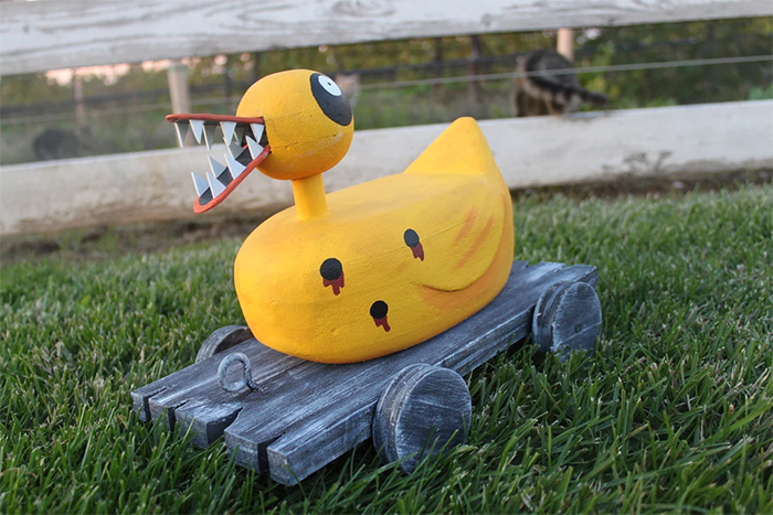 evil toy duck