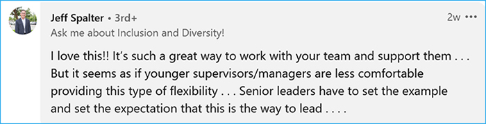 flexible work arrangements comment jeff spalter