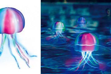 floating jellyfish pool light