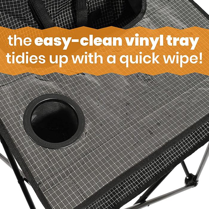 foldable toddler travel seat vinyl tray
