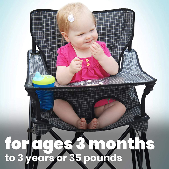 foldable toddler travel seat weight capacity