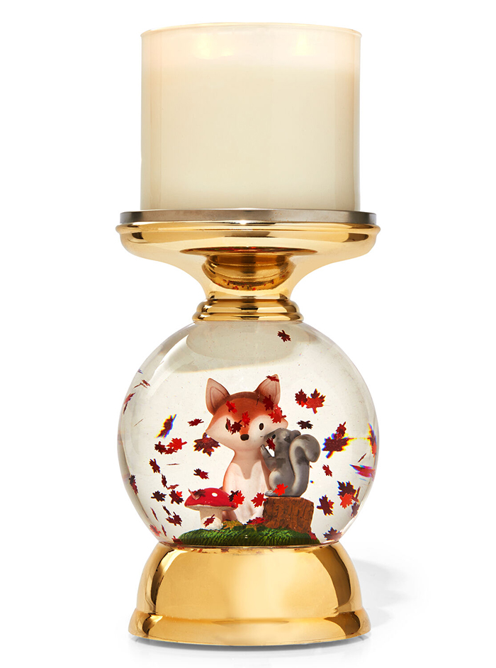 forest friends water globe candle holder