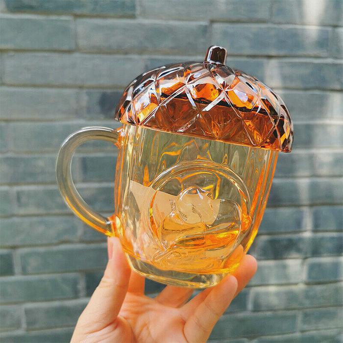 glass acorn mug starbucks china
