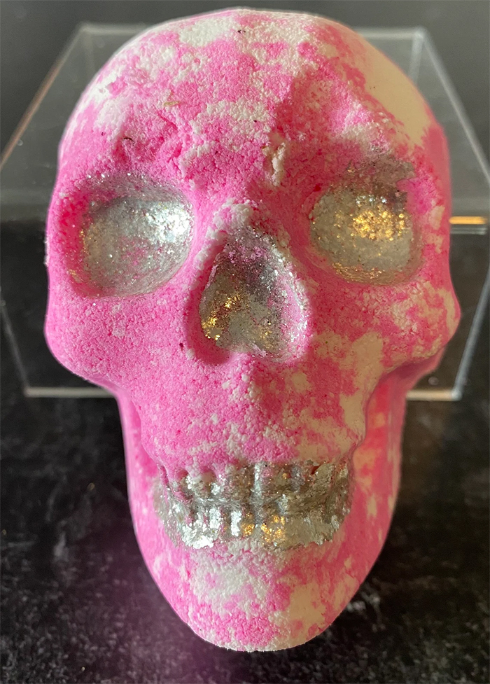 halloween-themed beauty essential pink white