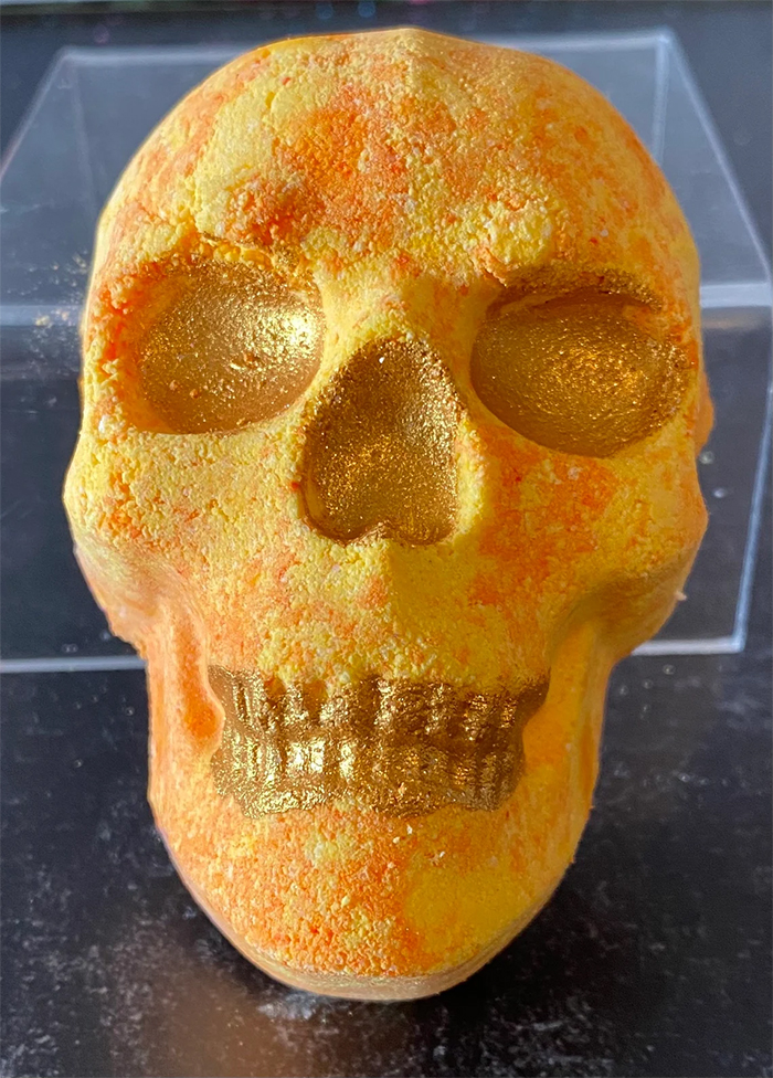 halloween-themed beauty essential sparkly yellow