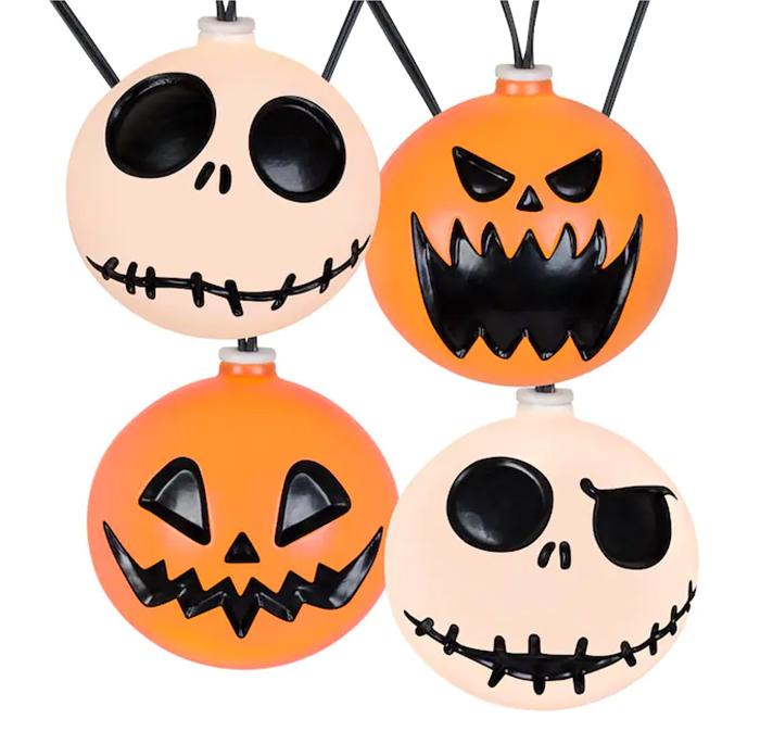 jack skellington and pumpkin string lights decor