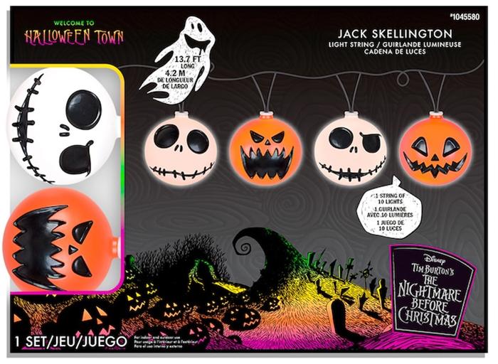 jack skellington and pumpkin string lights disney