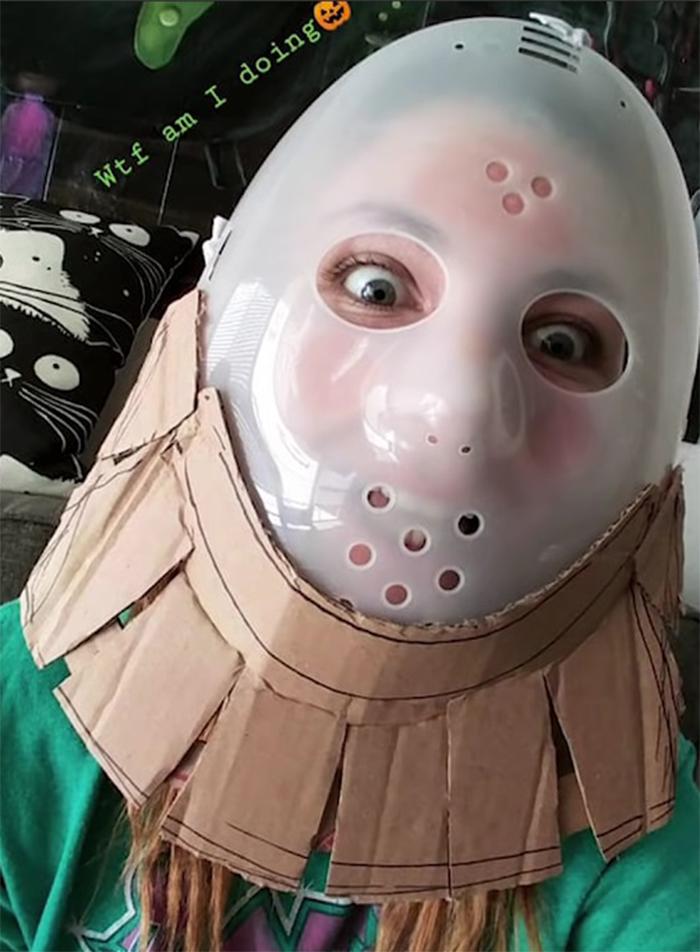 no sew oogie boogie halloween costume head mold