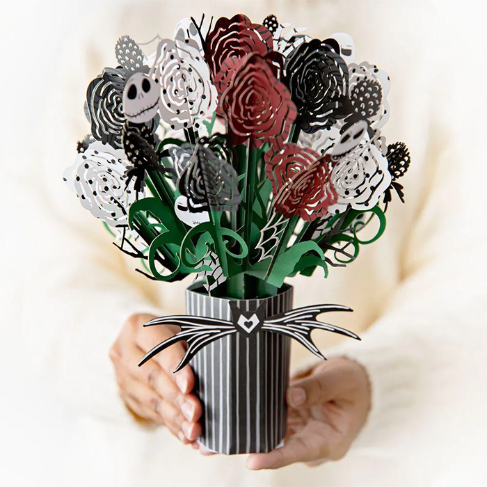 pop-up nightmare before christmas bouquet paper