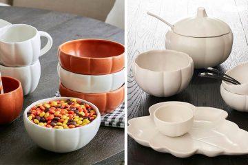 pumpkin shaped dinnerware