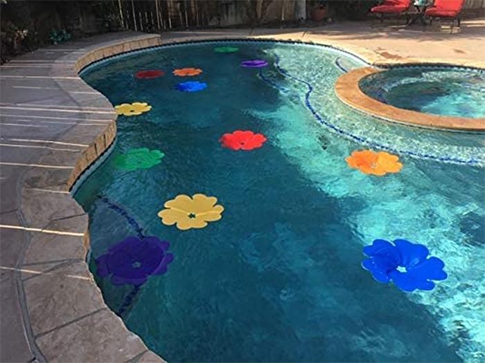 solar panel flowers pool