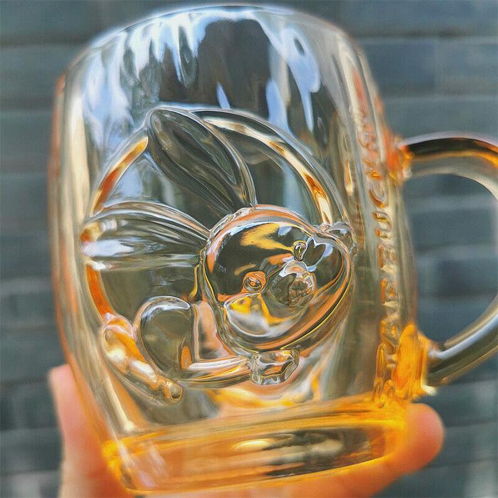 starbucks glass acorn mug rabbit logo