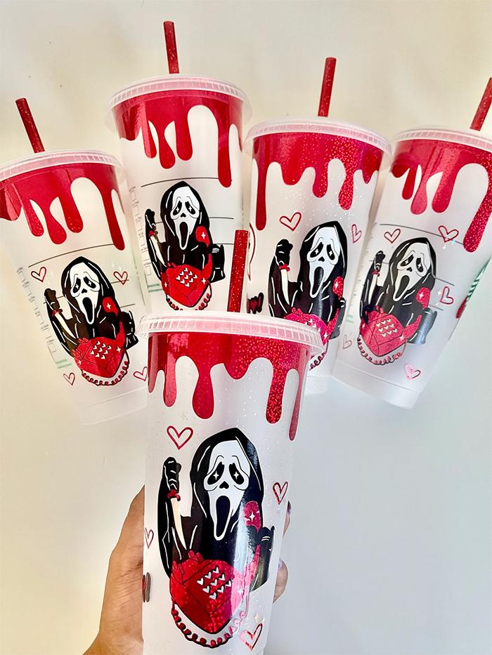 starbucks scream tumbler ghostface cups