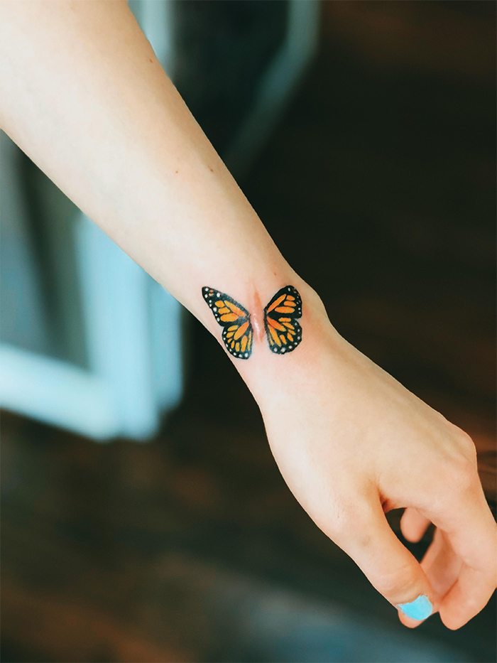 tattoo cover-ups butterfly scar