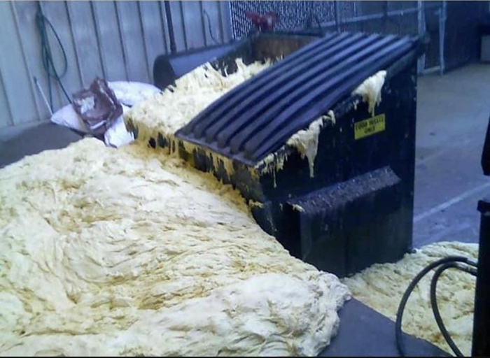 things gone wrong yeast rising in dumpster