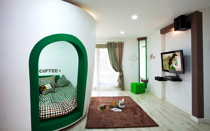 unique pension coffeehouse themed accommodation