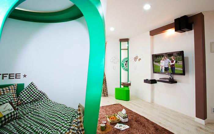 unique pension korea coffeehouse themed accommodation