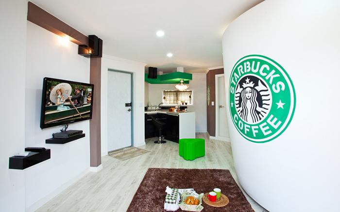 unique pension korea starbucks room