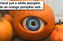 white pumpkin eye