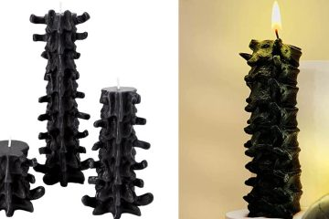 Gothic spine candles