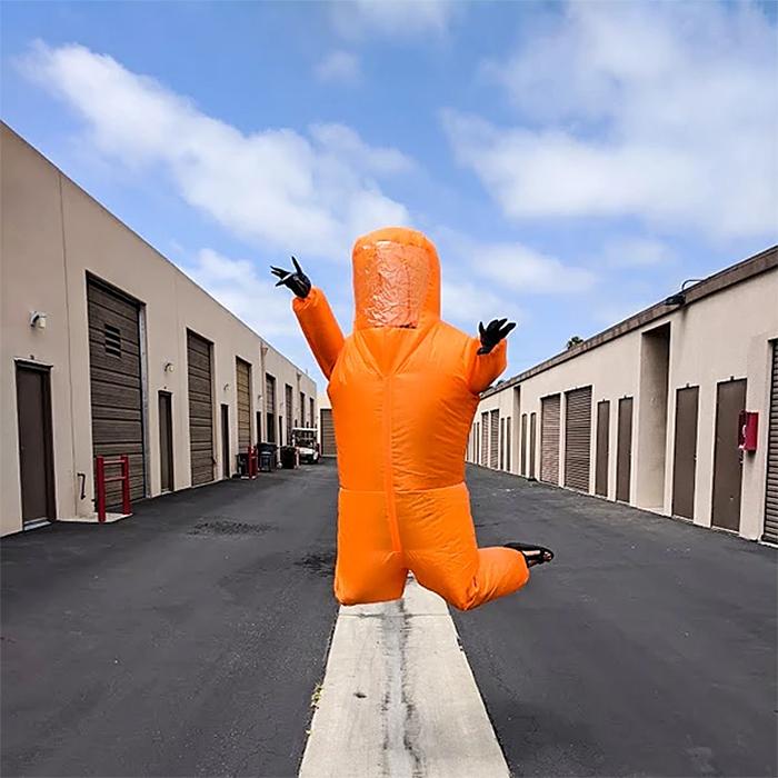 airblown ppe halloween costume orange