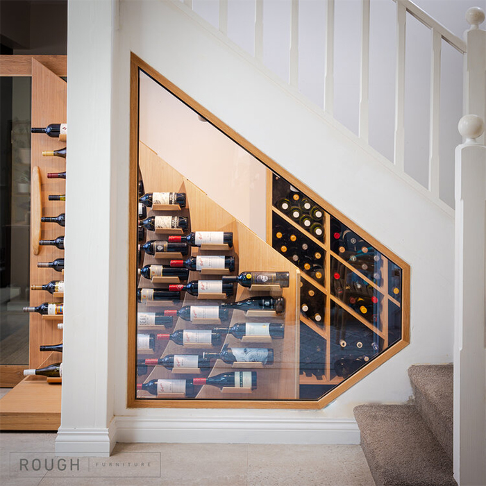 bespoke furniture under-the-staircase storage shelves