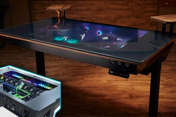 built in gaming computer desk