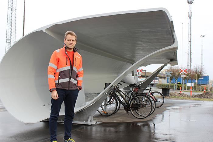 denmark bike shed composite material repurposing