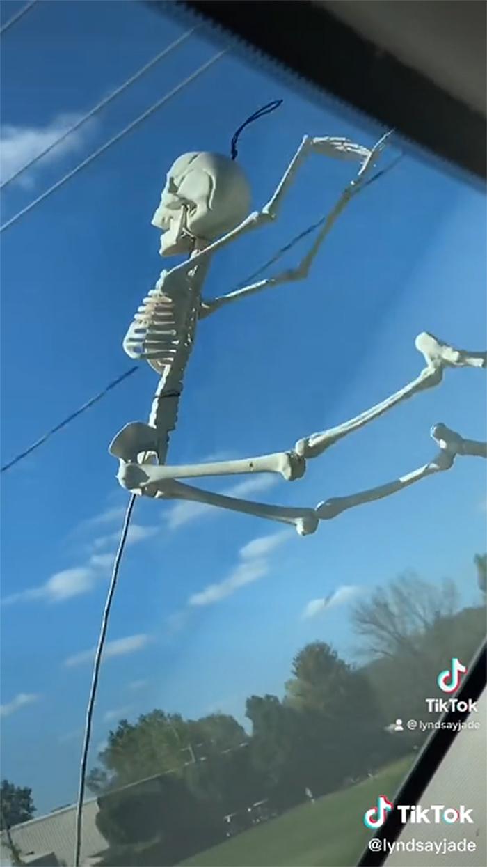 funny flying skeletons tiktok trend