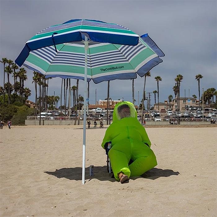 inflatable hazmat suit green adult size