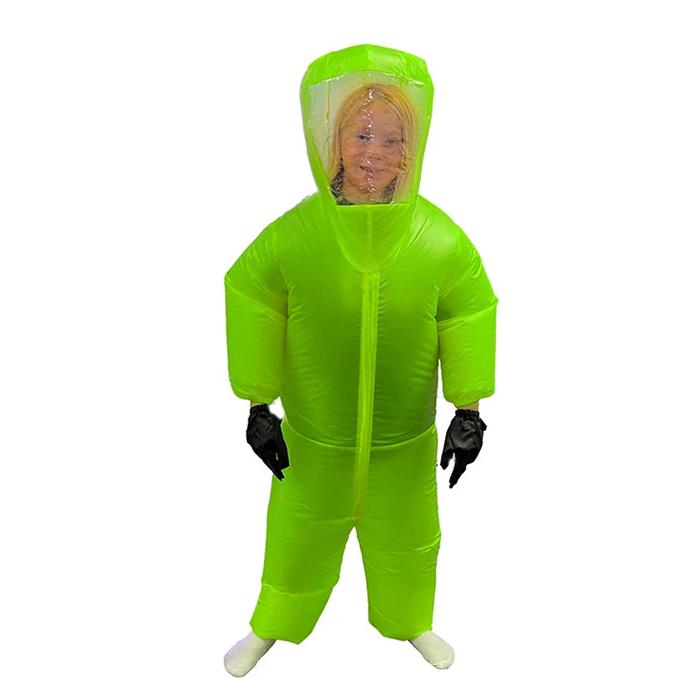 inflatable hazmat suit green