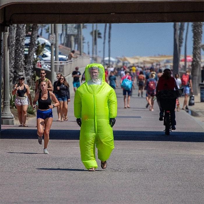 inflatable hazmat suit halloween costume