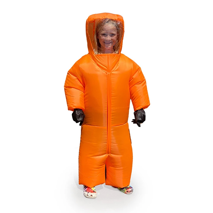 inflatable hazmat suit orange kid size