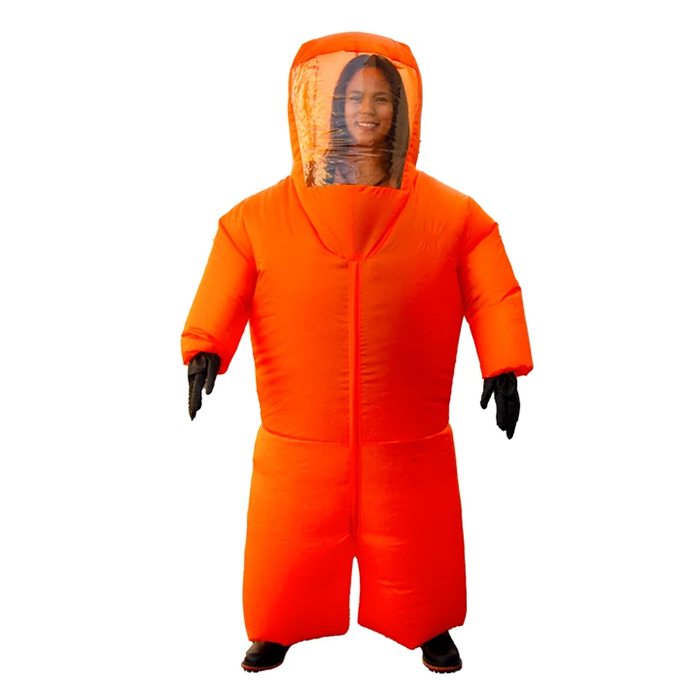 inflatable hazmat suit orange