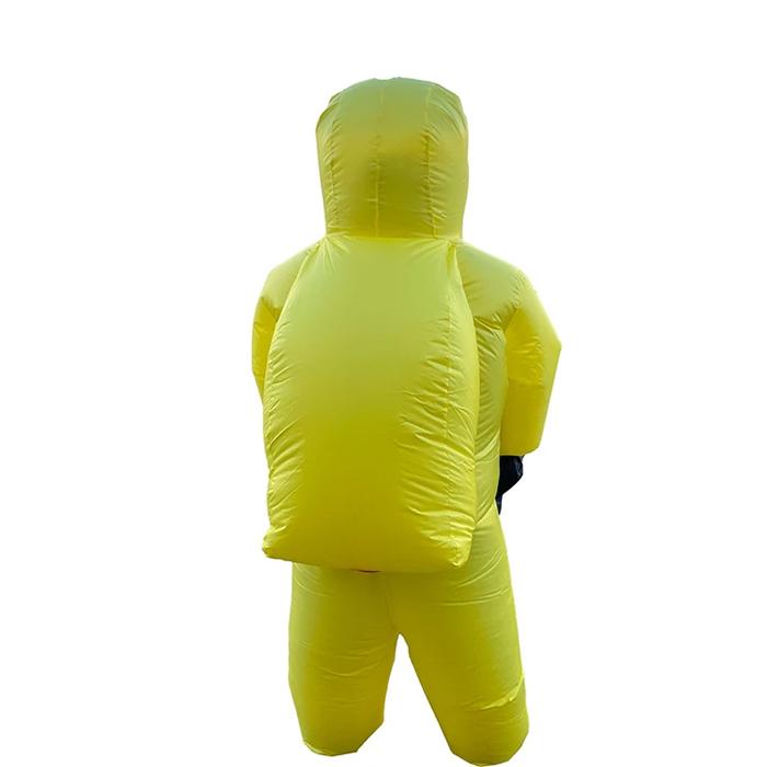 inflatable hazmat suit yellow back