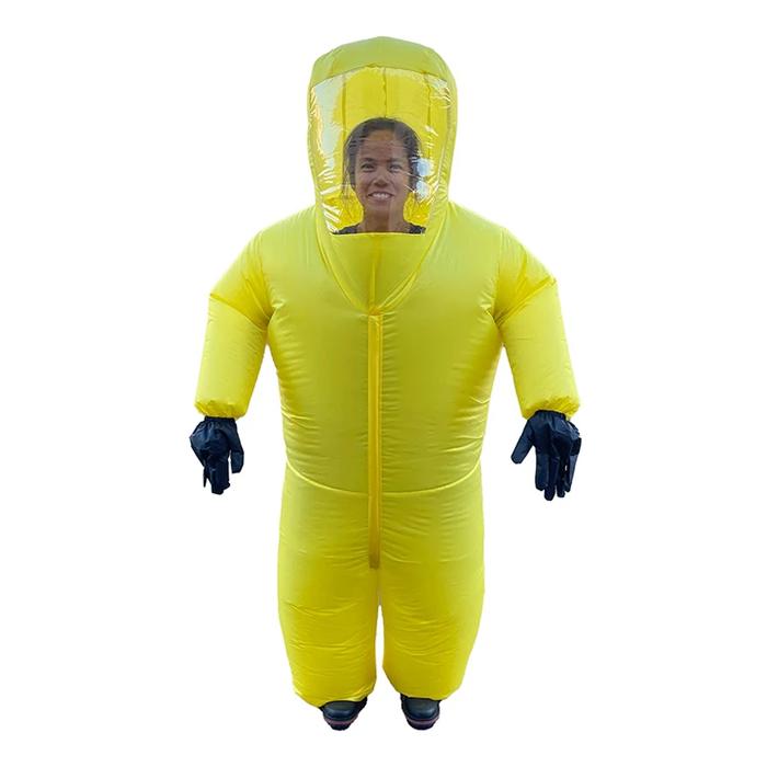 inflatable hazmat suit yellow