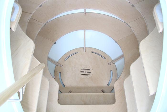 modern root cellar interior